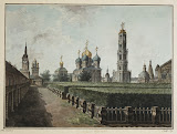 Monastery of the Trinity and St Sergius. View of the Dormition Cathedral, Bell-Tower and Refectory Chamber by Fyodor Alekseyev - Architecture, Landscape Drawings from Hermitage Museum