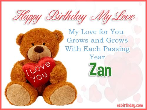 Zan Happy Birthday My Love