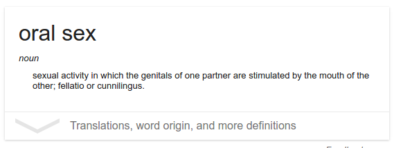 Variations of oral sex
