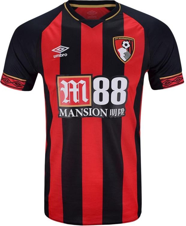 7a86af6ac2 Umbro apresenta as novas camisas do Bournemouth - Show de Camisas