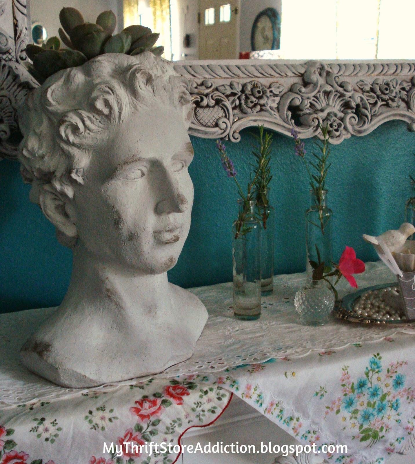 Vintage garden mantel