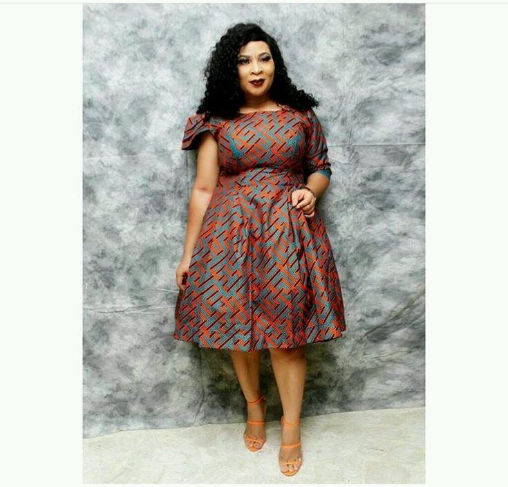 Fabulous Short Gown Ankara Styles 2018
