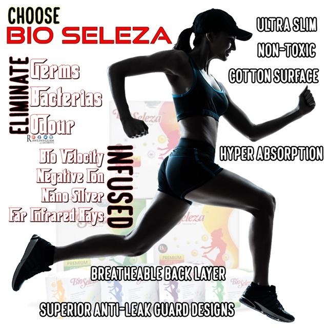 Bio seleza, Bio Seleza kurangkan keputihan, Bio seleza serapan, sanitary pad, cramps, period, haid, senggugut, Bio Velocity, Anti bacterial, byrawlins, darah nifas, B