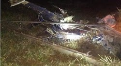 Helicóptero cai na cidade de Rosário no Maranhão e deixa vítimas fatais