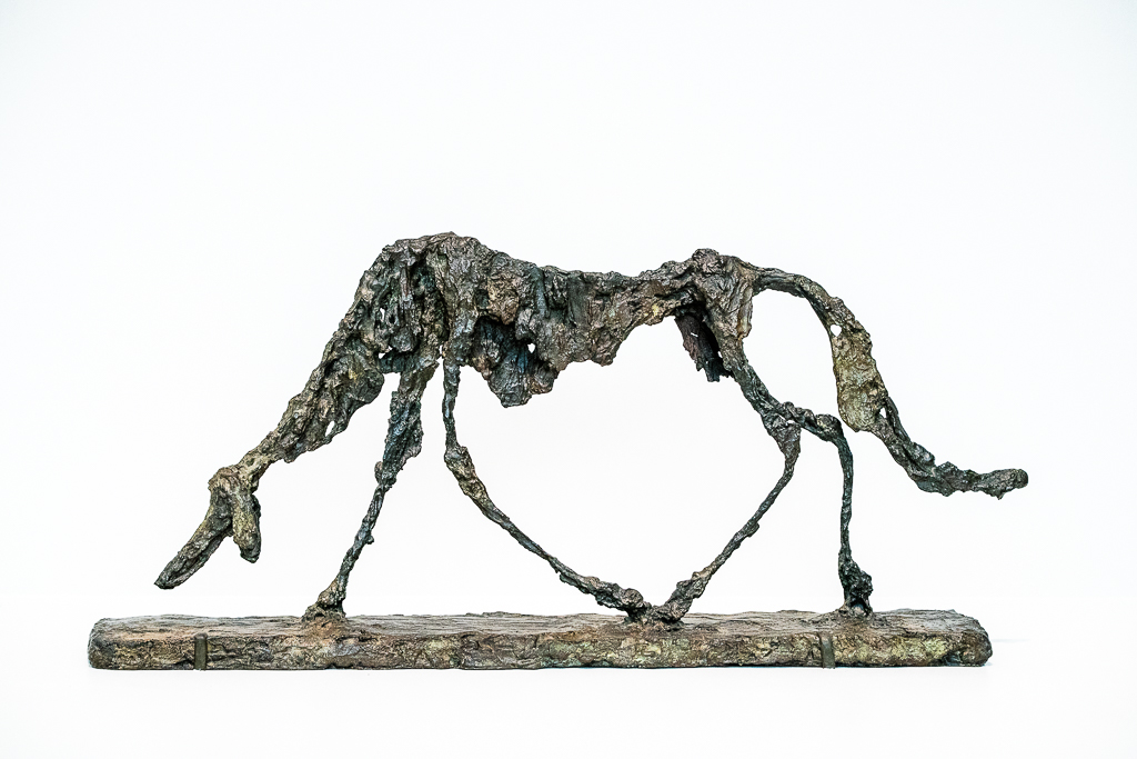 a photo of Le Chien Dog sculpture by Alberto Giacometti