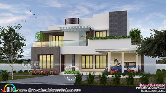 4 bedroom ₹35 lakhs cost estimated modern house