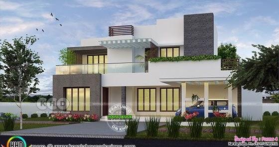 4 bedroom ₹35 lakhs cost estimated modern house - Kerala ...
