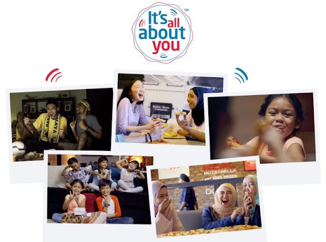Domino's It's All About You Menceriakan Hari Saya dan Keluarga