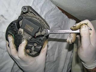 alternador Valeo 436193 cubierta trasera desmontaje- rear panel removal