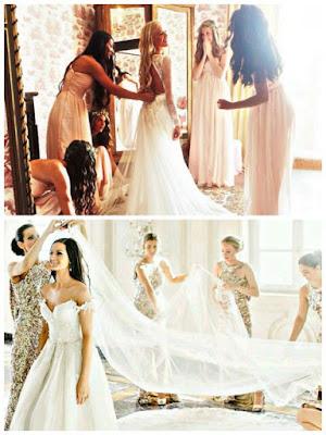 Fotografías con cortejo y madrinas de la novia - bodas