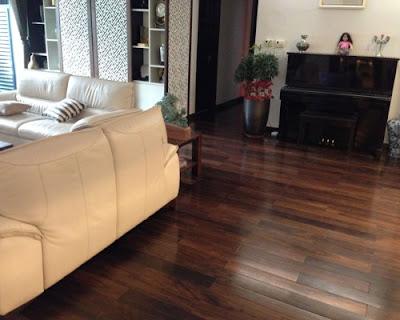 sàn gỗ chiu liu tạo không gian sang trọng nhất