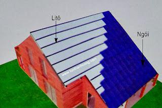 Miêu tả cách cố định mái ngói trên lớp mút cách nhiệt PE OPP 1 mặt bạc