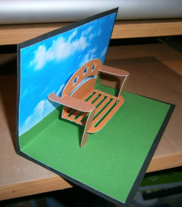Susan Bluerobot Park Bench Pop Up Card