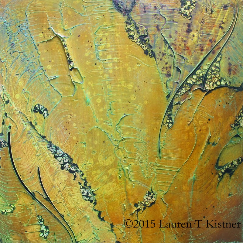 Remains ©2015 Lauren T Kistner, mixed media paining