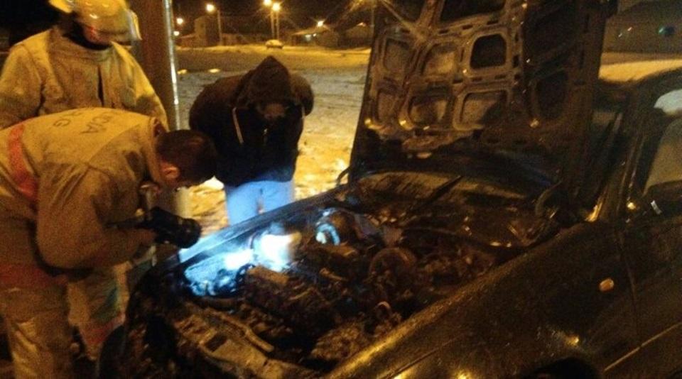 Vehiculo se prendio fuego