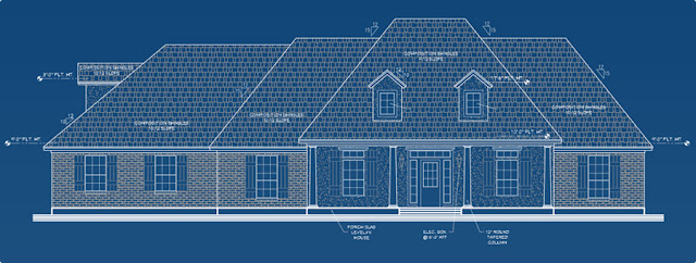 Acadian style home elevation