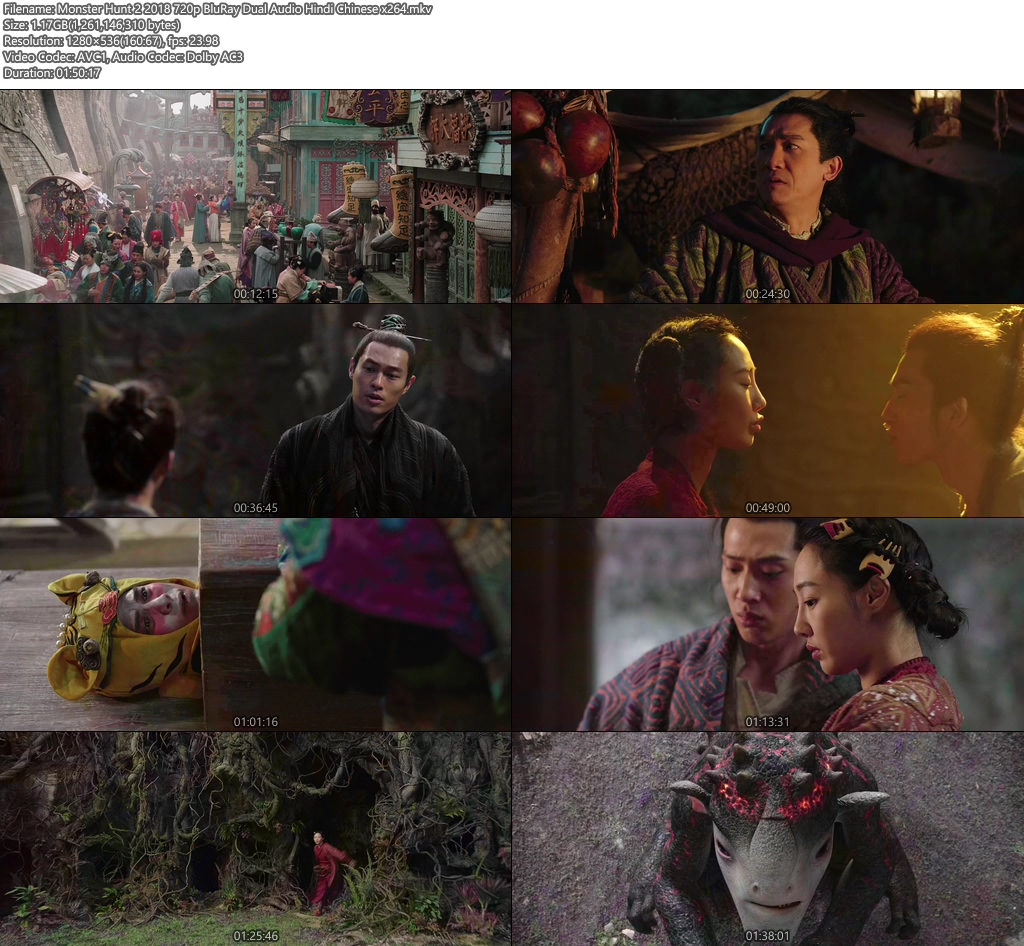 Monster Hunt 2 2018 720p BluRay Dual Audio Hindi Chinese x264   408p 300MB   100MB HEVC Screenshot