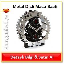 Metal Dişli Masa Saati