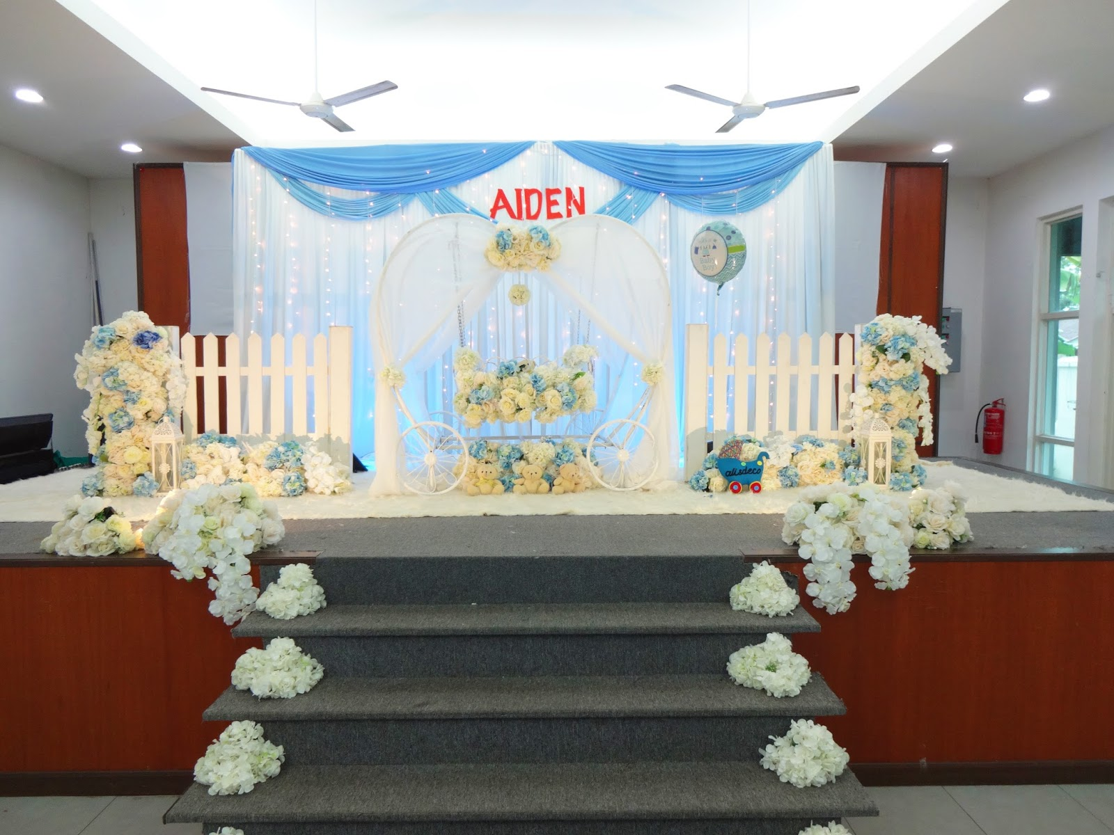 D 39 alis deco naming ceremony baby for Baby name ceremony decoration