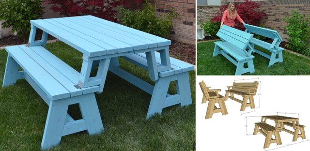 Picnic Table Plans In Mm