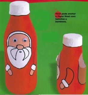 Resultado de imagem para Enfeite: Papai Noel feito com sucatas