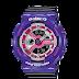 นาฬิกาข้อมือผู้หญิง CASIO สีม่วง-ดำ นาฬิกา BABY-G BA-110NC-6A สายเรซิน