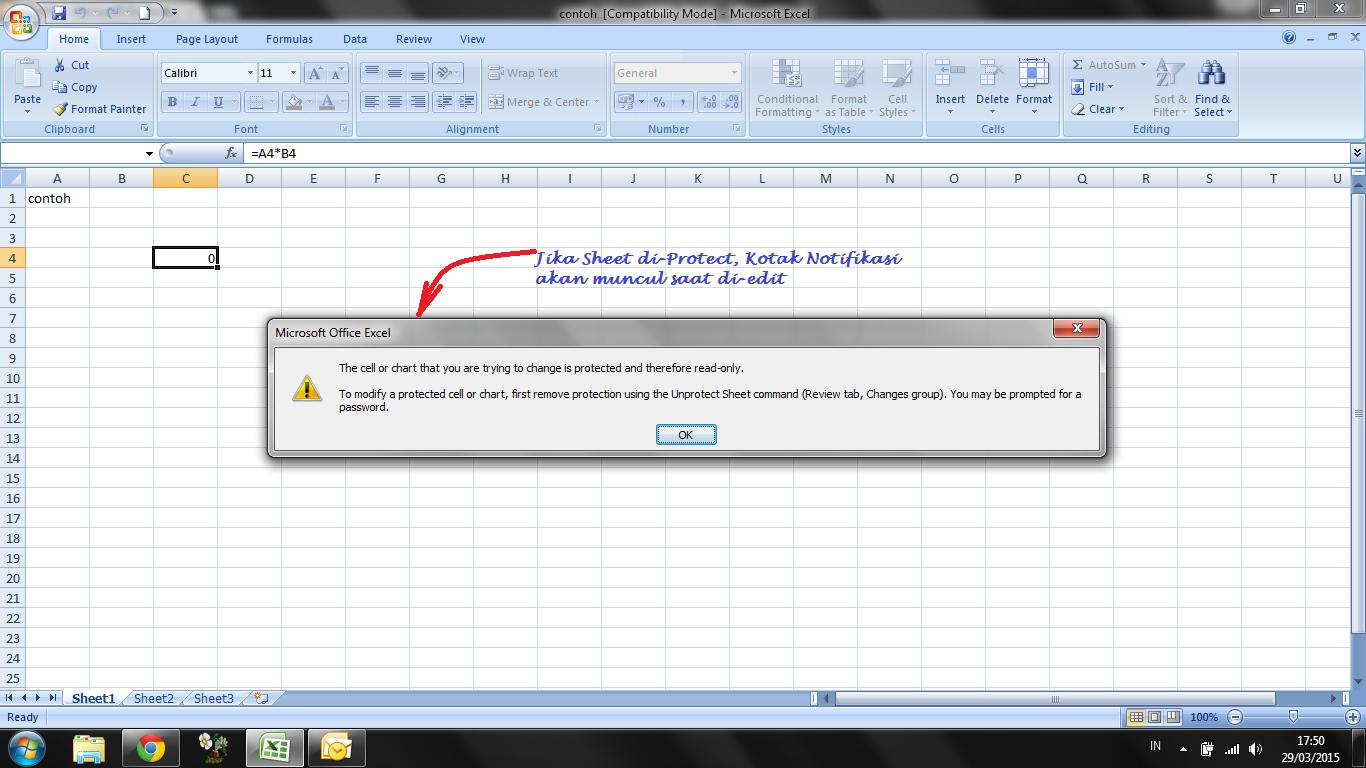 Berbagi Itu Indah Membongkar Password Sheet Excel
