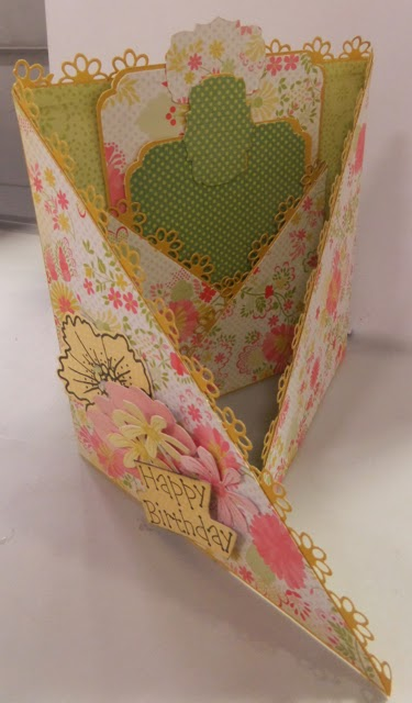 DCWV Card by Clare Charvill The Fresh Floral Stack