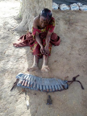 Female Suicide Bomber Captured Alive As Good Men Stop Her From Killing People