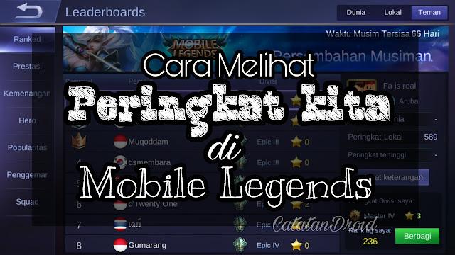 Cara Melihat Peringkat Kita di Game Mobile Legends