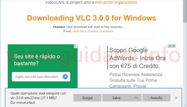 Microsoft Edge notifica download Quale operazione vuoi eseguire con