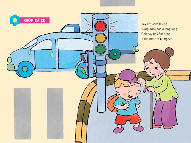 thơ mầm non chủ đề giao thông