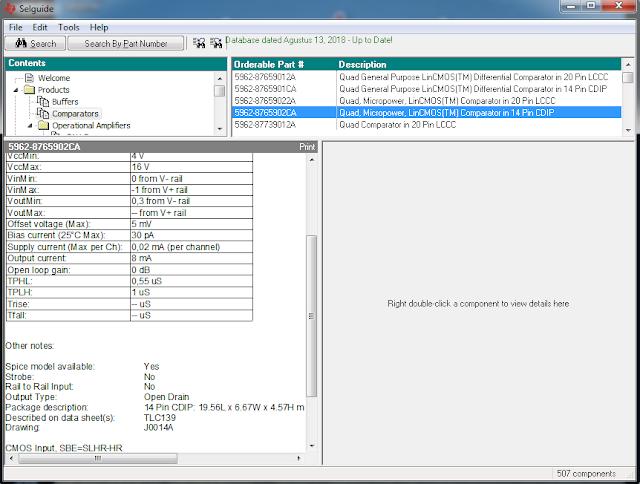 Screenshot OPAMP Selector Guide
