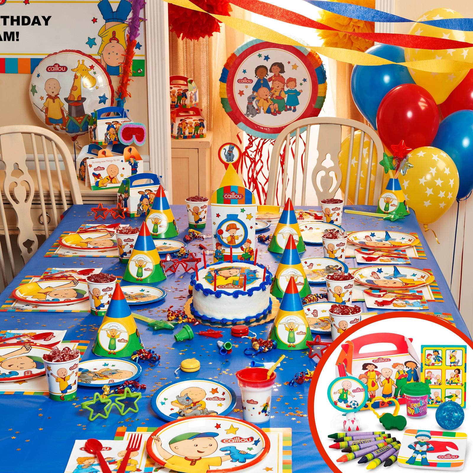 Decoraci n de fiestas infantiles de caillou fiestas y for Ideas decoracion fiesta