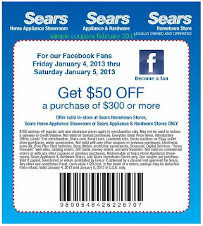 Sears coupons for february 2017