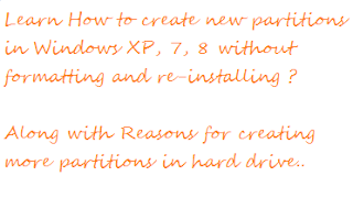 create partitions without formatting and re-installing