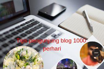 Tips supaya mendapatkan pengunjung blog 1000 perhari