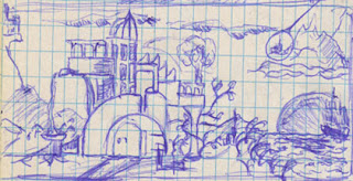 Strange Castle Drawing