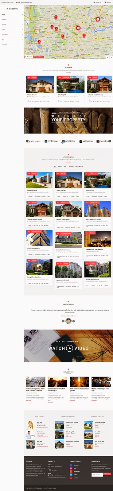 Free Real Estate WordPress Theme 2015