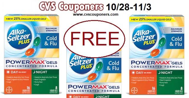 CVS FREE Alka Seltzer PowerMax Gels 24ct - 10/28-11/3