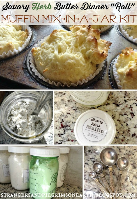 """Savory Herb Butter Dinner """"Roll"""" Mix-in-a-jar recipe"""