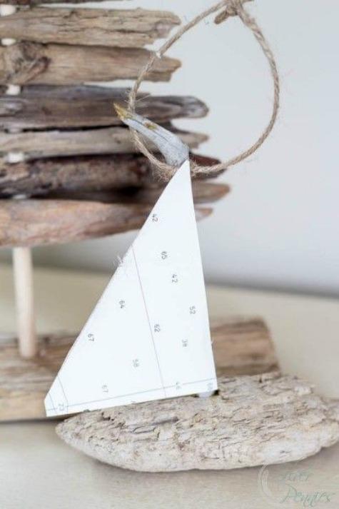Driftwood Boat Ornament