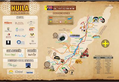 mapas huila, mapa huila, turismo huila, viaje al desierto de la tatacoa, viaje a san agustín, viaje a neiva
