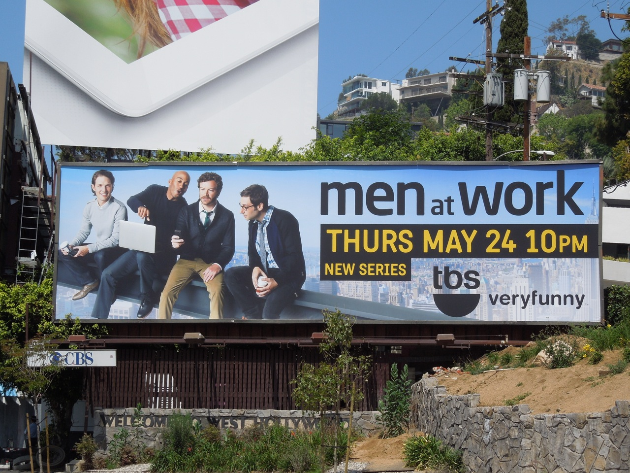 90e3bcbf9c2 Daily Billboard  Men at Work series premiere TV billboard ...