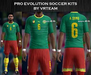 Cameroon 2016 new home kit Pes 2013