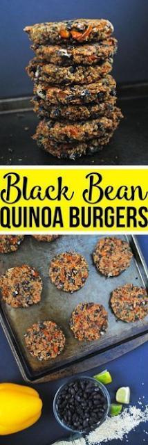 BLACK BEAN QUINOA BURGERS (VEGAN + GLUTEN-FREE)