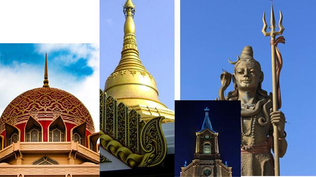Bermacam jenis agama yang dianut penduduk benua asia