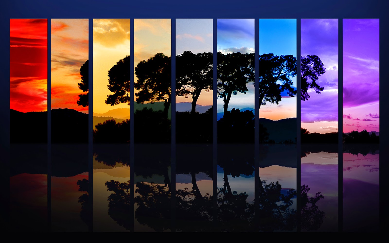 Rainbow Abstract Tree Wallpapers
