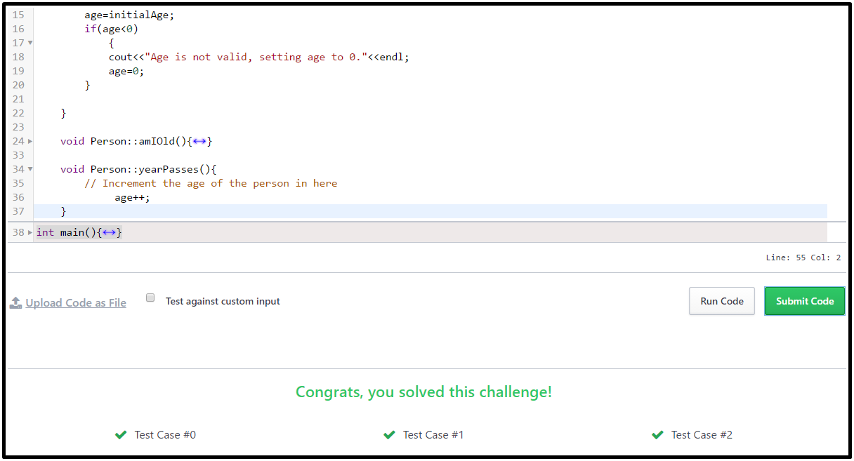 Hackerrank Solution For Day 4: Class vs. Instance