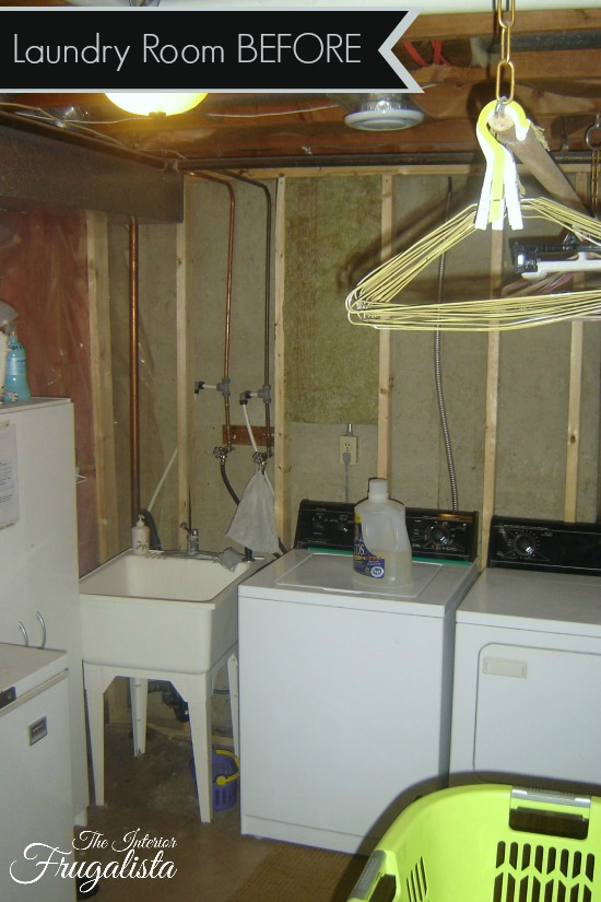Basement laundry room Before